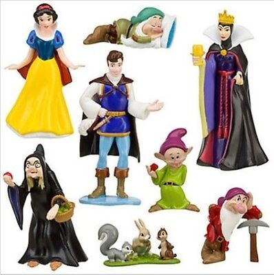 Snow White Dwarfs Queen Playset 8 Figure Cake Topper * USA SELLER* Toy Doll Set