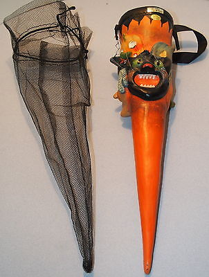 2003 SILVER WILLOW HALLOWEEN MACHE Anthropomorphic Funnel shape CANDY CONTAINER
