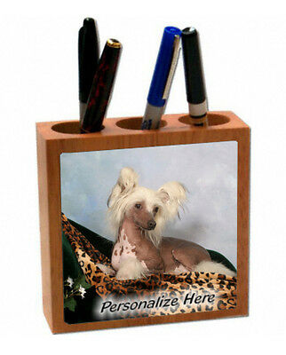 Chinese  Crested    brown color   ( 60 )   Personalized  Pencil and Pen Holder