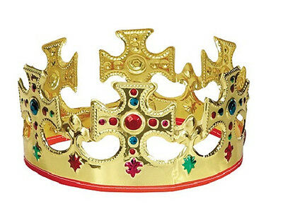 (1) Jeweled Majestic King Crown #8308  ~ Birthday Party Supply Favor Decoration