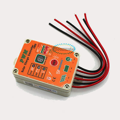 NEW 10A Waterproof PWM Solar Power Charge Controller System Regulator Components
