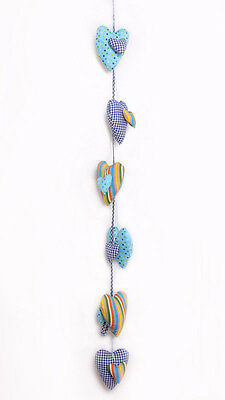 Wholesale Bulk closing sale - Blue String of Hearts Baby Mobile - 6 available