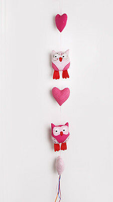 WHOLESALE BULK CLOSING SALE - Pink Owl & Heart String Baby Mobile - 4 Available