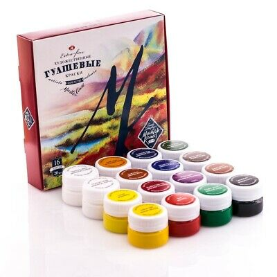 Gouache Paint Set MASTER CLASS 16 colors 20ml Professional Russian Gouashe