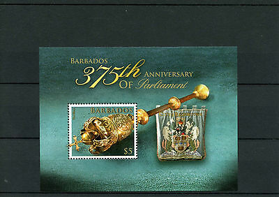 Barbados 2014 MNH Parliament 375th Anniv 1v M/S Mace