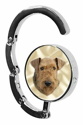 Airedale Terrier Dog Table Bag Handbag Purse Hanger Hook by paws2print