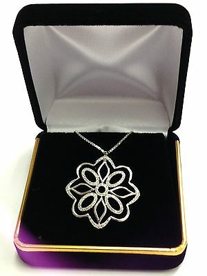 High Quality Black Velvet Necklace Pendant Gift  Box Case Jewelry Display