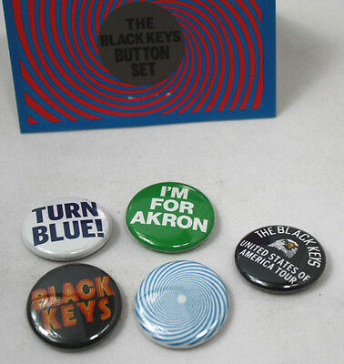 [Set of 5] THE BLACK KEYS Assorted Concert Buttons Pins NEW