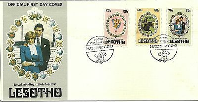 22/7/1981 Lesotho First Day Cover FDC - Royal Wedding 29th July 1981 #2