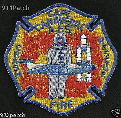CAPE CANAVERAL, FL - AFS CRASH FIRE RESCUE AIR FORCE FIREFIGHTER Patch FIRE DEPT