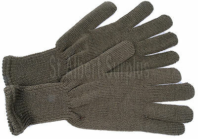 Army Gloves - Green Knit Wool - New - Extra-Large - 80Yn