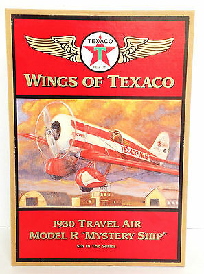 NIB 1997 WINGS OF TEXACO 5TH IN SERIES 1930 TRAVEL AIR MODEL R MYSTERY SHIP BANK