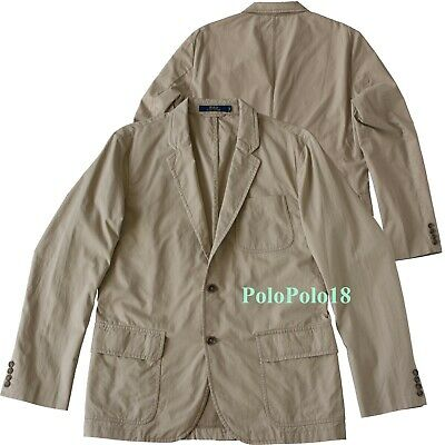 New $295 Polo Ralph Lauren Chino Blazer Jacket 40R 42L 46L