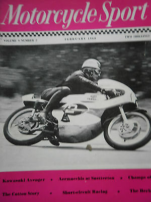 MOTORCYCLE SPORT MAGAZINE 02/68 - BILL IVY ON YAMAHA 125cc AT BRANDS COVER