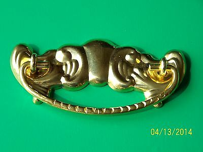 "Victorian Drawer Pulls  Furniture Pull , Sold In Pairs, 3"" Cc, Solid Brass"