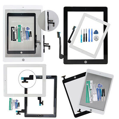 NEW LCD Touch Screen and Digitizer Replacement + Tools For ipad 2/3/4/5 Air/mini