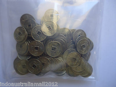 100 PCS Small Antique Bronze Alloy Metal Chinese Fortune Coins 10mm(K062)