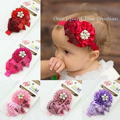 Baby Headbands Headband Newborn Toddler Flower Hair Band