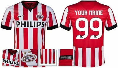 *14 / 15 - Nike ; Psv Home Shirt Ss / Personalised = Size*