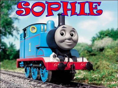 THOMAS THE TANK  With Name Placemat. VERY SPECIAL PRICE FOR 4. A4 size