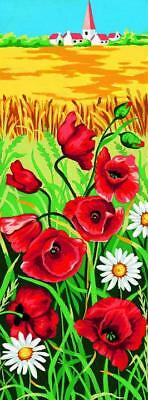 Margot de Paris Tapestry/Needlepoint Canvas – Poppies in the Wild (Coquelicots)