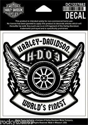 "Genuine Authentic HARLEY-DAVIDSON Militia Decal Measures: 4"" W x 4"" H #DC1227882"