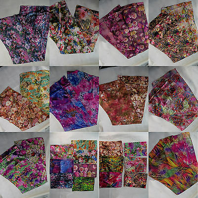 US SELLER-lot of 5 celebrity style floral butterfly satin scarves