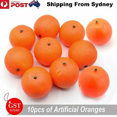 10X Artificial Orange Oranges Fake Fruit Home Party Wedding Shop Decoration Bar