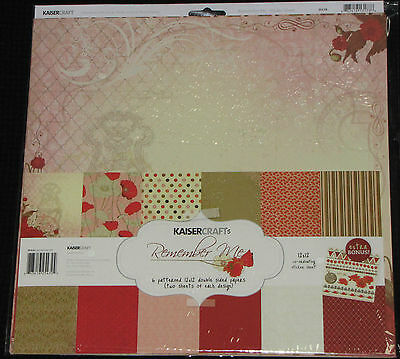 "Kaisercraft 'REMEMBER ME' 12x12"" Paper Pk+ Stickers Anzac KAISER SPECIAL PRICE"