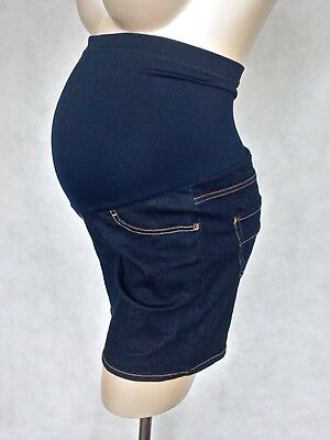 Maternity SALE Blue Denim Shorts / Over Your Bump In Sizes 8/10 12/14 & 16/18