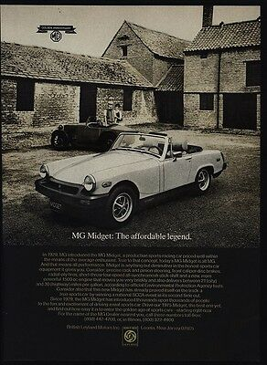 1975 MG MIDGET Convertible Sports Car - Affordable Legend - VINTAGE AD