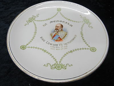 """Edward VII Commemorative Plate Issued by Winton in 1910 """"The Peacemaker"""""""