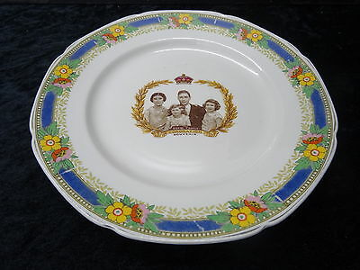 Commemorative Plate George VI 1937 Coronation Plate, Showing the Royal Family