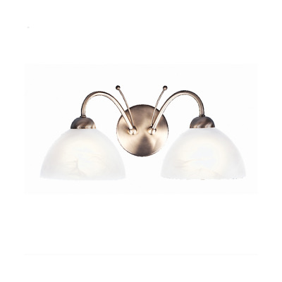 Searchlight 1132-2AB Milanese Antique Brass Double Wall Light