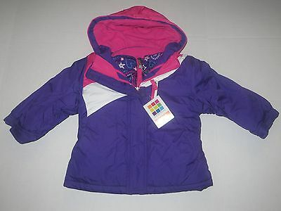 NWT Carter's Hooded Puffer Jacket Baby Girls Coat SZ 12 18 24