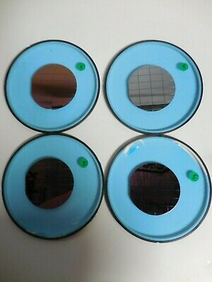 "4"" Colored Silicon Wafer With Squares Diced Lot of 4"