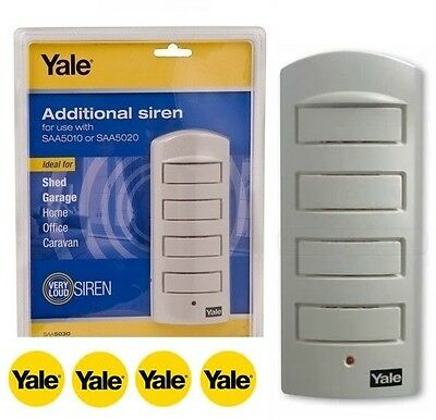 Yale® SAA5030 Single Room Alarm Additional Siren 130DB Home Security + Cable 912