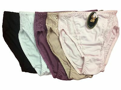 Ladies 4 Pack Underwear High-Cut Firming Slimming Full Briefs Size 12-22