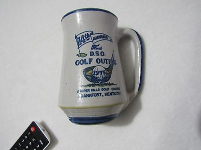 Lot Of 2 Louisville Stoneware Kentucky Golf Tournament Coffee Mugs Cups