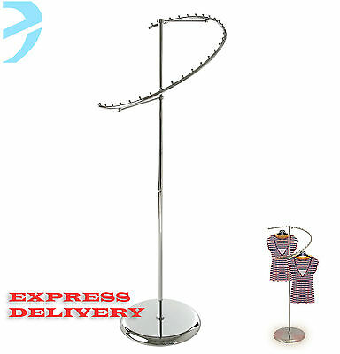 Garment Rail Heavy Duty Spiral Clothes Dress Hanging Rail