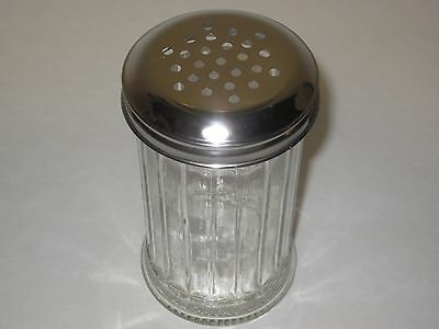 Glass Cheese Shaker - w/Secure Metal Lid, Spice Jar, Bars, Restaurants, Pizzeria