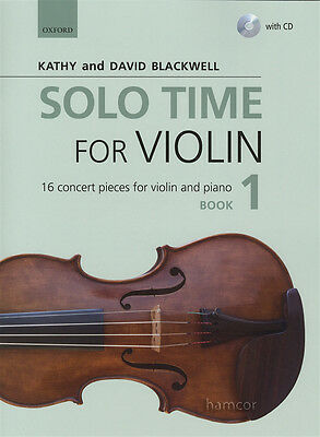 Solo Time for Violin 1 Music Book & Play-Along CD Kathy & David Blackwell Fiddle