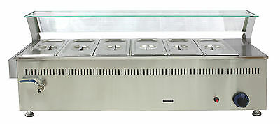 Season special offer limited to 8 ACE 6 pot Large LPG GAS BAIN MARIE DISPLAY