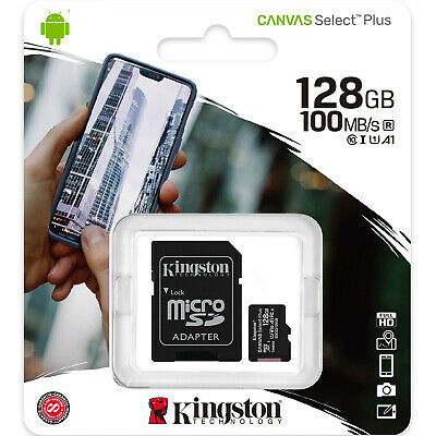 Kingston 128GB Micro SD SDXC MicroSD Class 10 Tarjeta Memoria 128G Canvas Select