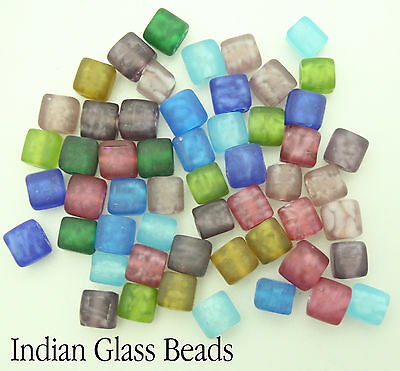 50 x Indian Glass Opaque Beads For Jewellery Making Size 8mm