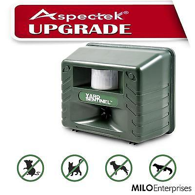 UPGRADED! Aspectek ✪ Yard Sentinel ☆ Ultrasonic Animal Repeller Pest Control