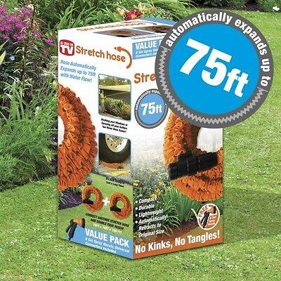 Morphy Richards 75ft Expandable Stretch Garden Hose & Free 8 Position Spray Gun