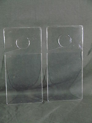 Lot 2 Clear Plastic Rear View Mirror Hanging Permit Parking Pass Holder Placard