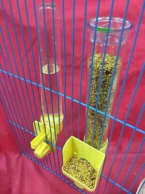 Bird Feeder Seed & Water Clipper Fountains TALL External Budgie Canary Finch