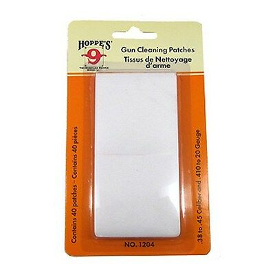 New Hoppe's 9 Bore Gun Cleaning Patch No. 4 - .38 .45 Caliber 40 Pack 1204